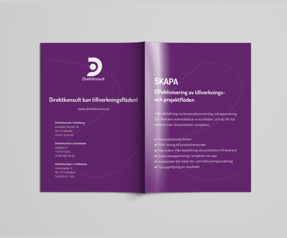 A4 Brochure Mockup – Free Versionback